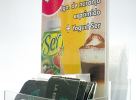86-display en acrilico cristal con impresion full color intercambiable